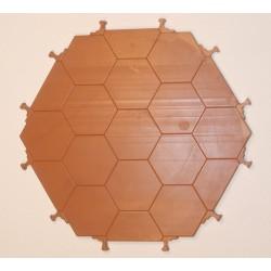 Suelo hexagonal para torre